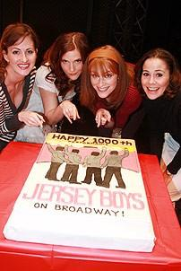 Jersey Boys Official 1000 Perfs - Heather Ferguson - Bridget Berger - Erica Piccininni - Sara Schmidt