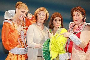 Frida at Mamma Mia - Judy McLane - Heidi Godt - Fina Ferrall - Frida