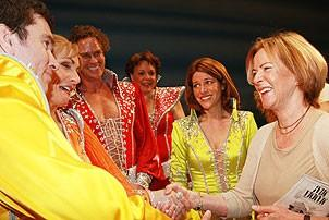 Frida at Mamma Mia - Christopher Shyer - Judy McLane - Pearce Bunting - Gina Ferrall - Heidi Godt - Frida