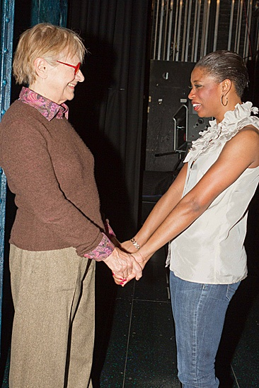 Estelle Parsons Backstage at Memphis  Estelle Parson  Montego Glover