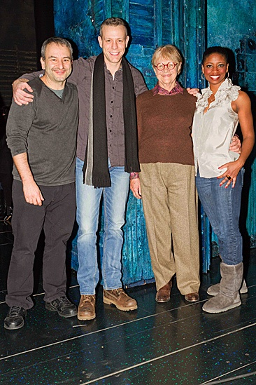 Estelle Parsons Backstage at Memphis – Joe DiPietro – Adam Pascal - Estelle Parson – Montego Glover