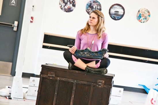Peter and the Starcatcher Rehearsal – Celia Keenan-Bolger on the treasure chest