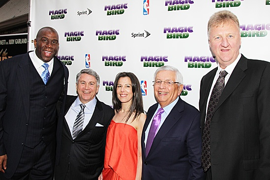Magic.Bird Opening Night – Magic Johnson – Tony Ponturo – Fran Kirmser – David Stern – Larry Bird