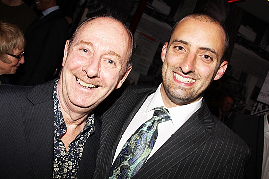 One Man, Two Guvnors opening night  Fred Ridgeway  Tom Edden 