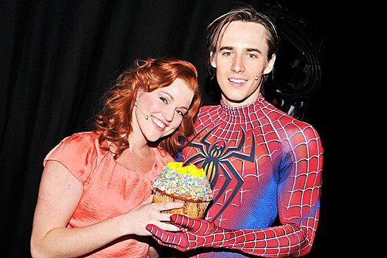 Reeve Carney 29 Birthday at Spider-man  Reeve Carney - Rebecca Faulkenberry