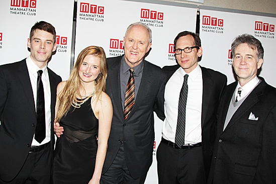 The Columnist Opening Night - Brian J. Smith  Grace Gummer  John Lithgow  Stephen Kunken - Boyd Gaines 