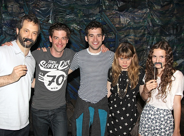 Judd Apatow at Starcatcher  Judd Apatow  Christian Borle - Adam Chanler-Berat - Celia Keenan-Bolger - Maude