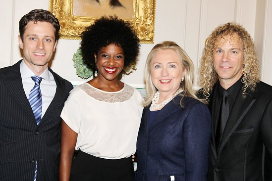 David Bryan Grand Piano to State Department – Kevin Massey - Dan'yelle Williamson -Hillary Clinton - David Bryan