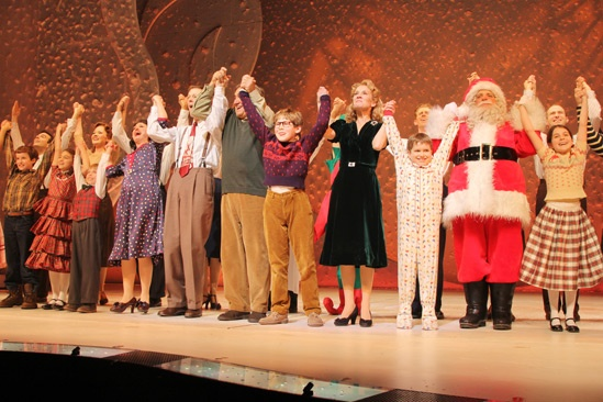 A Christmas Story Opening Night  Caroline OConnor  John Bolton  Dan Lauria  Johnny Rabe  Erin Dilly  Zac Ballard  Eddie Korbich