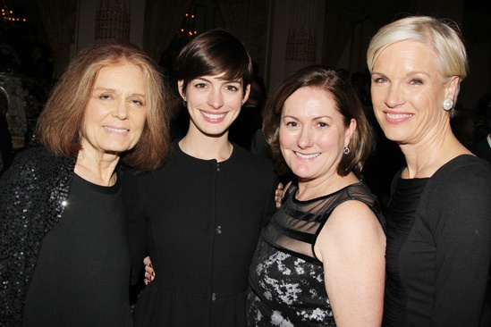 Ann- Gloria Steinem- Anne Hathway- Kate McCauley Hathaway- Cecile Richards