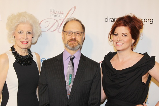 2013 Drama League Awards Luncheon — Jano Herbosch — David Hyde Pierce — Debra Messing