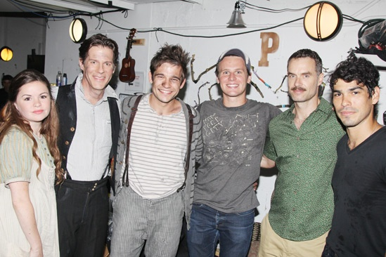 Jonathan Groff at Peter and the Starcatcher - Nicole Lowrance - Rick Holmes - Jason Ralph - Jonathan Groff - Murray Bartlett - Raul Castillo