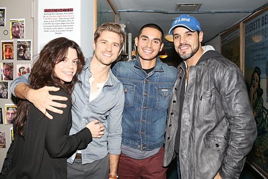 Graceland Stars at Macbeth- Vanessa Ferlito - Aaron Tveit - Manny Montana - Daniel Sunjata