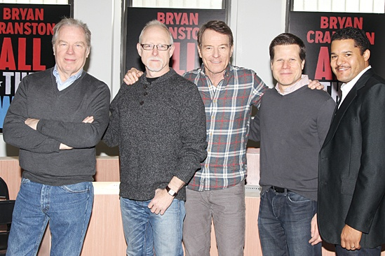 All The Way - Meet and Greet - Michael McKean - Robert Schenkkan - Bryan Cranston - Bill Rauch - Brandon J. Dirden