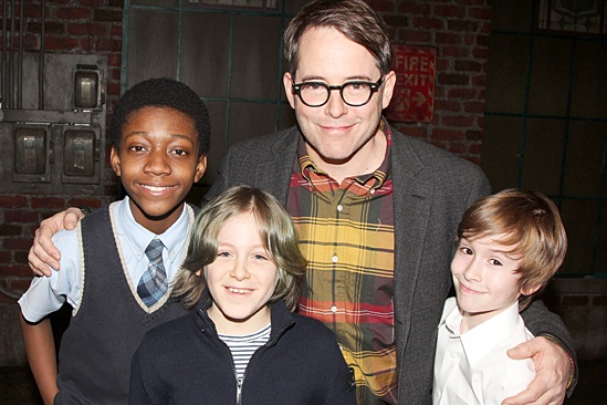 Kinky Boots - Sarah Jessica Parker visits - OP - Cole Bullock - James Wilkie Broderick - Matthew Broderick - Sebastian Hedges