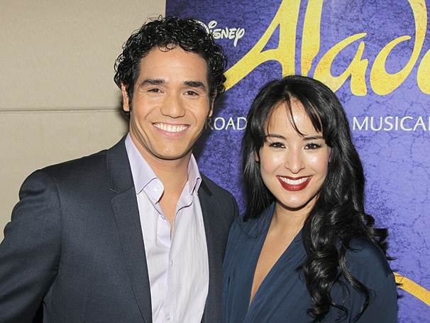 Aladdin - Meet and Greet - OP - Adam Jacobs - Courtney Reed
