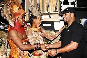 Johan Santana at Lion King - Dashaun Young - Kissy Simmons - Johan Santana