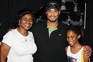 Johan Santana at Lion King - NicKayla Tucker - grandmother Phyllis - Johan Santana