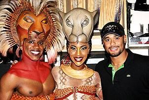 Johan Santana at Lion King - Johan Santana - Dashaun Young - Kissy Simmons