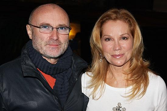 Kathie Lee Gifford and Phil Collins at the Lion King Phil Collins  Kathie Lee Gifford