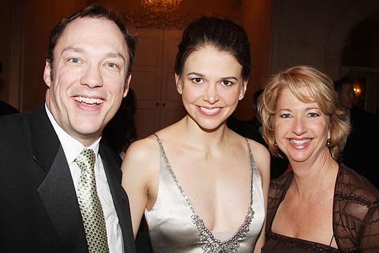 Shrek the Musical Opening Night  Sutton Foster - Patrick Wetzel - Linda Griffin