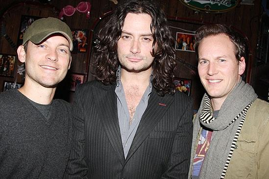 Wilson and Maguire at Rock of Ages  Tobey Maguire  Constantine Maroulis  Patrick Wilson