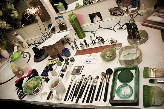 Nicole Parker Backstage at Wicked  dressing table