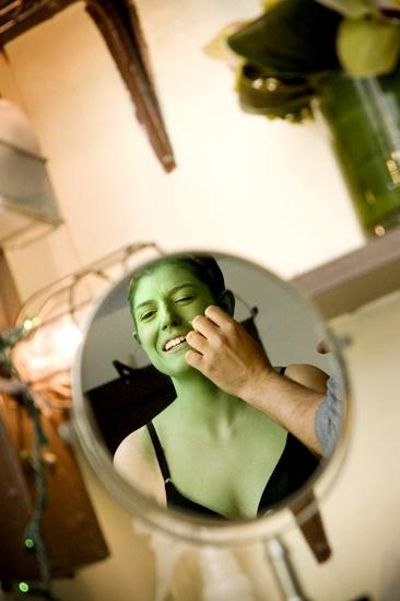 Nicole Parker Backstage at Wicked  mirror