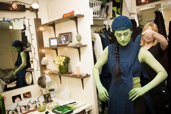Nicole Parker Backstage at Wicked  dressing