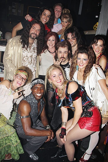 Tiffany at <i>Rock of Ages</i> - Tiffany and <i>Rock of Ages</i> cast