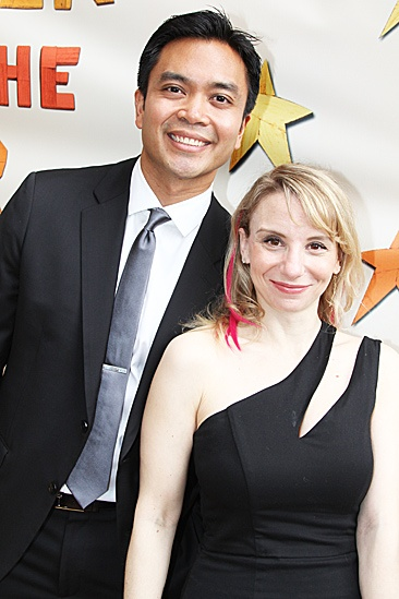 Peter and the Starcatcher Opening Night – Jose Llana – Sarah Saltzberg