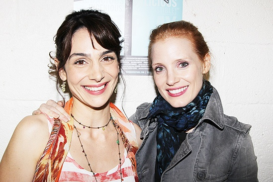 Jessica Chastain and Katie Finneran at Clybourne Park  Annie Parisse  Jessica Chastain