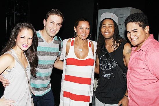 Vanessa Williams Visits Bring It On – Lauren Whitt – Dahlston Delgado - Vanessa Williams – Antwan Bethea – Michael Naone-Carter