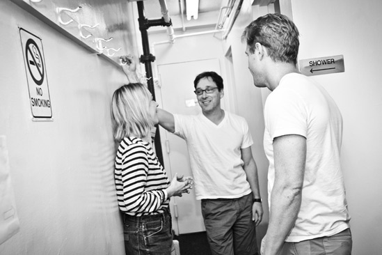 Backstage at Clybourne Park – Sarah Goldberg – Jeremy Shamos – Bruce Norris?