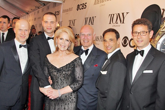 Tony Red Carpet- Richie Jackson- Jordan Roth- Steve Roth- Daryl Roth- Hal Luftig- Stewart Adelson