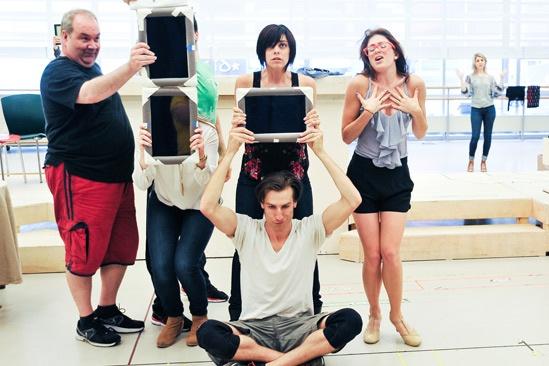 'First Date' Rehearsal — Blake Hammond — Bryce Ryness — Krysta Rodriguez — Kate Loprest