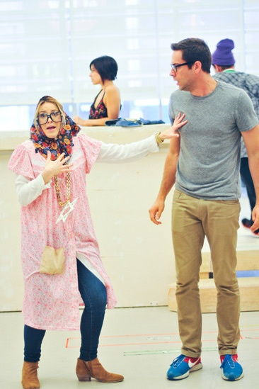 'First Date' Rehearsal — Sara Chase — Zachary Levi