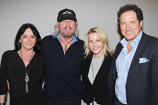 Motown - OP - Linda Gibb - Barry Gibb - Kevin McCollum and wife Lynette Perry McCollum