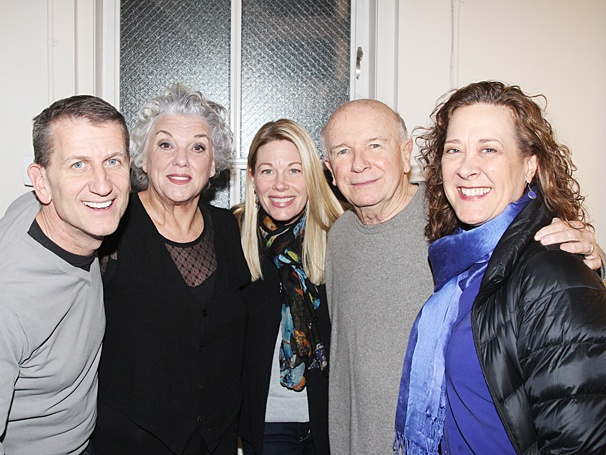 Mothers and Sons - Bullets Stars visit - OP - 3/14 - Tom Kirdahy - Tyne Daly - Marin Mazzie - Terrence McNally - Karen Ziemba