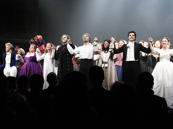 Les Miserables - Opening - OP - 3/14 - Cliff Saunders - Keala Settle - Caissie Levy - Will Swenson - Ramin Karimloo - Nikki M James - Andy Mientus - Samantha Hill