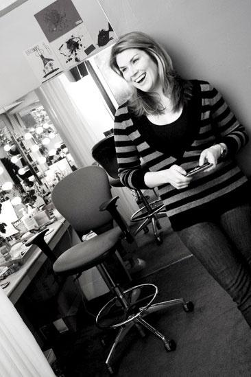 Heidi Blickenstaff backstage at The Little Mermaid – herself