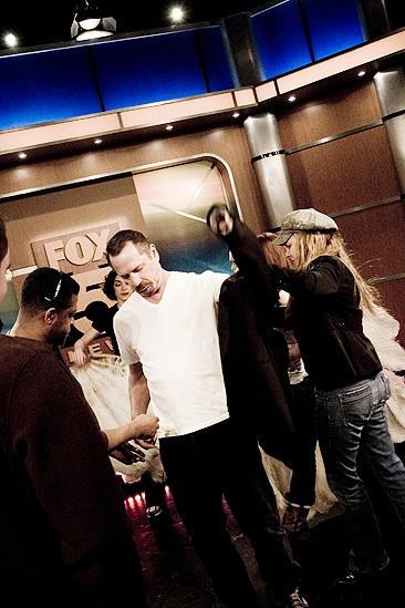 Tom Wopat at Fox 5 –sound check