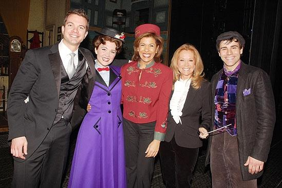 Kathie Lee Gifford and Hoda Kotb Moonlight at Mary Poppins  Kathie Lee Gifford  Scarlett Strallen  Adam Fiorentino  Brad Haak