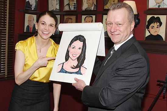 Sutton Foster Honored at Sardis  Sutton Foster  Max Klimavicius