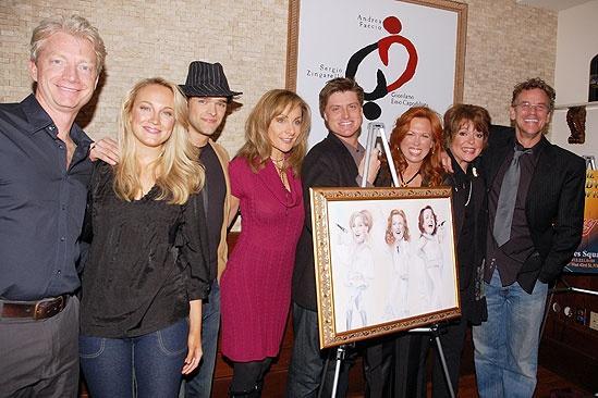 Mamma Mia! portrait at Tony's Di Napoli – Ben Livingston – Sean Allan Krill – Pearce Bunting – Carolee Carmello – Gina Ferrall – Judy McLane – Brandi Burkhardt – Chris Peluso