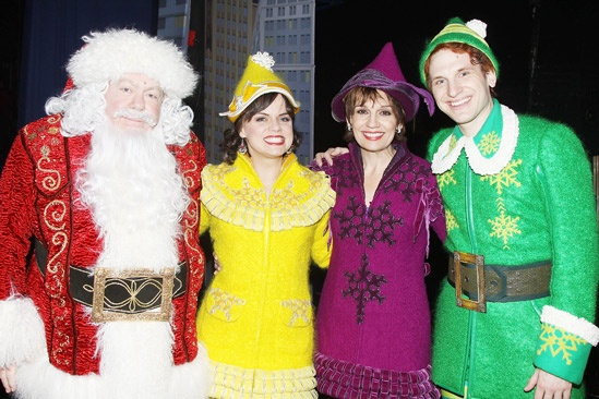 Backstage at Elf with Joe Jonas George Wendt  Amy Spanger  Beth Leavel  Sebastian Arcelus