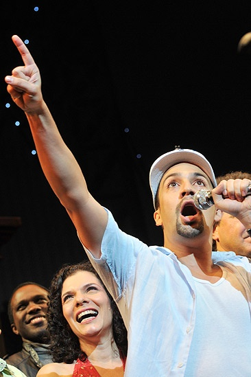 In the Heights Closing Night  Joshua Henry - Blanca Camacho - Lin-Manuel Miranda