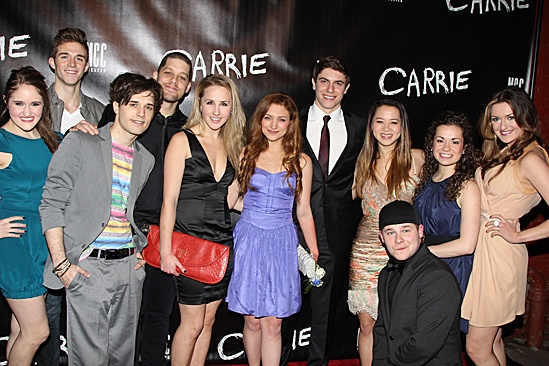 Carrie - Blair Goldberg, Jake Boyd, Andy Mientus, Ben Thompson, Jeanna de Waal, Christy Altomare, Derek Klena, Jen Sese, F. Michael Haynie, Elly Noble and Mackenzie Bel