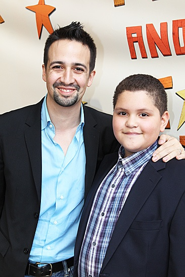 Peter and the Starcatcher Opening Night  Lin-Manuel Miranda  Nephew Miguel