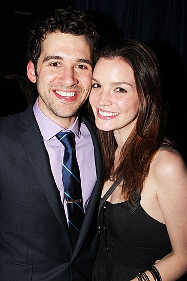 Peter and the Starcatcher Opening Night  Adam Chanler-Berat  Jennifer Damiano